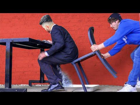 Splash Chair Pulling Prank