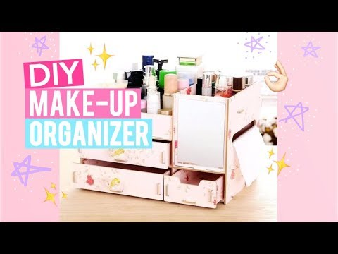 DIY Wooden Make-up Organizer 🌸| EASY Steps to Assemble