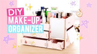 DIY Wooden Make-up Organizer 🌸  EASY Steps to Assemble