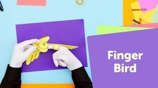 How to Make a Paper Bird Puppet | SuperHands: Easy Crafts, DIY Craft Ideas for Kids Toys