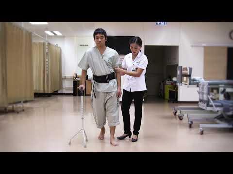 เดินถูกวิธีไม่มีล้ม การฝึกเดินในผู้ป่วยอัมพาตครึ่งซีก