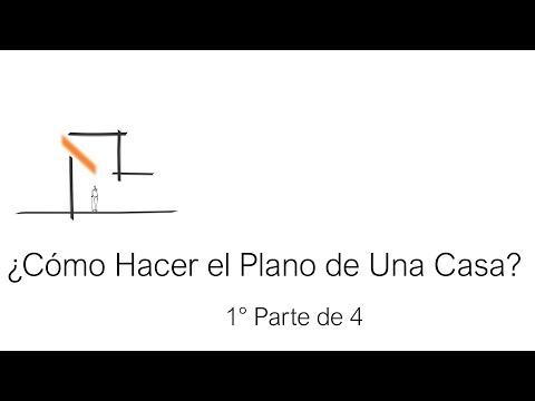 ✅ ¿Cómo hacer el Plano De Una Casa? Tutorial 1 de 4