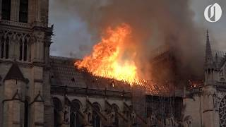 Scenes from Notre Dame Cathedral fire in Paris