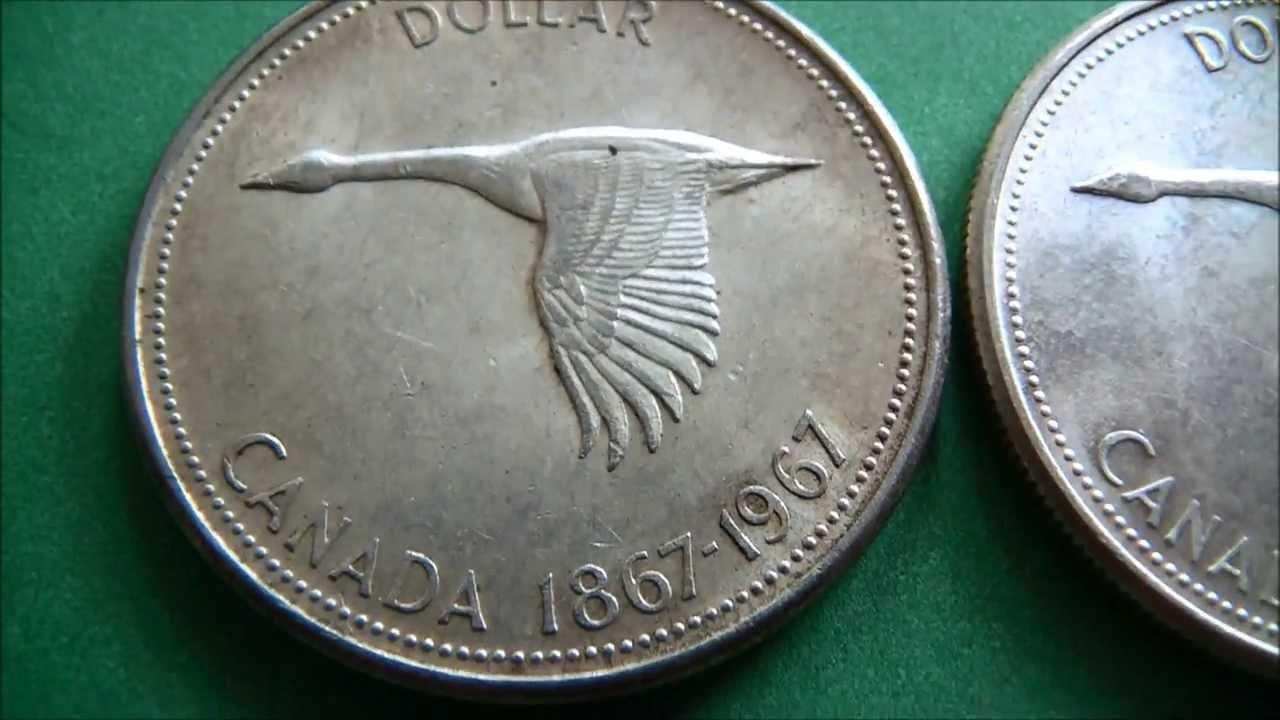 Goose Elizabeth Ii Cad Silver Dollar Coin 1867 1967 Youtube
