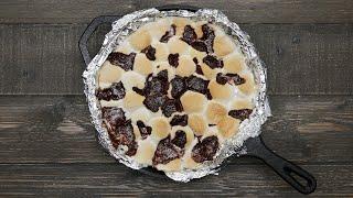 Skillet Brownie S'mores • Tasty