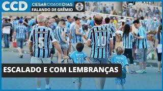 Time escalado, lembranças, 5 a 0, Jorge Jesus... dia dos pais, dia de Grêmio. Primeiras do domingo