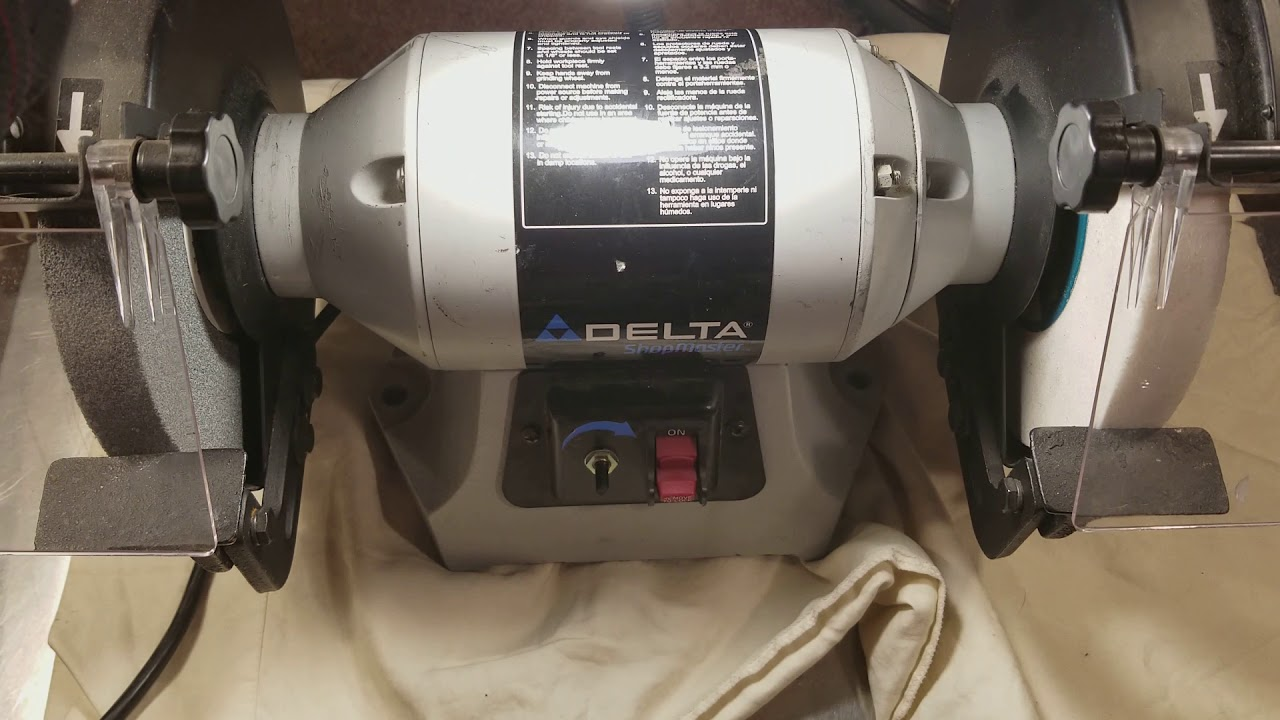 Delta Shopmaster Gr450 8 Quot Bench Grinder Review Youtube