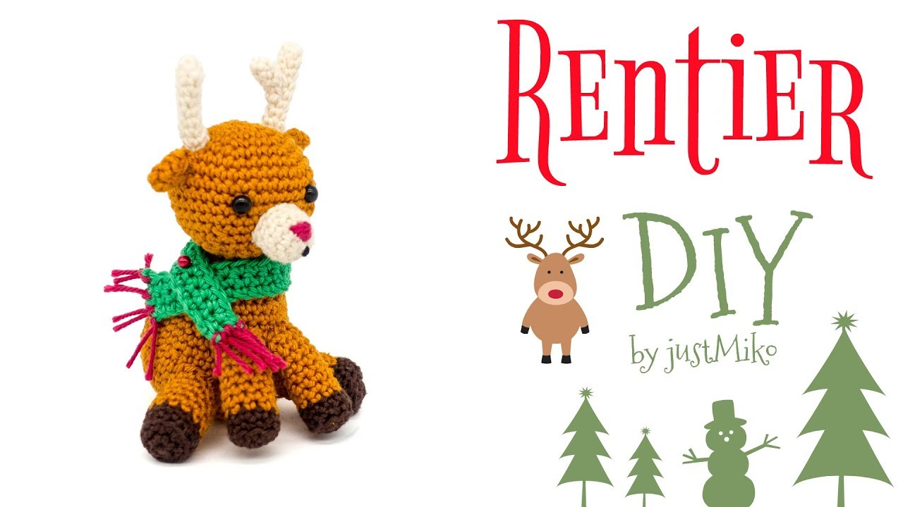 Rentier Häkeln Do It Yourself Amigurumi Weihnachten Youtube