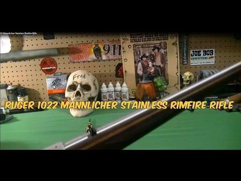 Ruger 1022 Mannlicher Stainless Rimfire Rifle