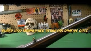 Ruger 1022 Mannlicher Stainless Rimfire Rifle