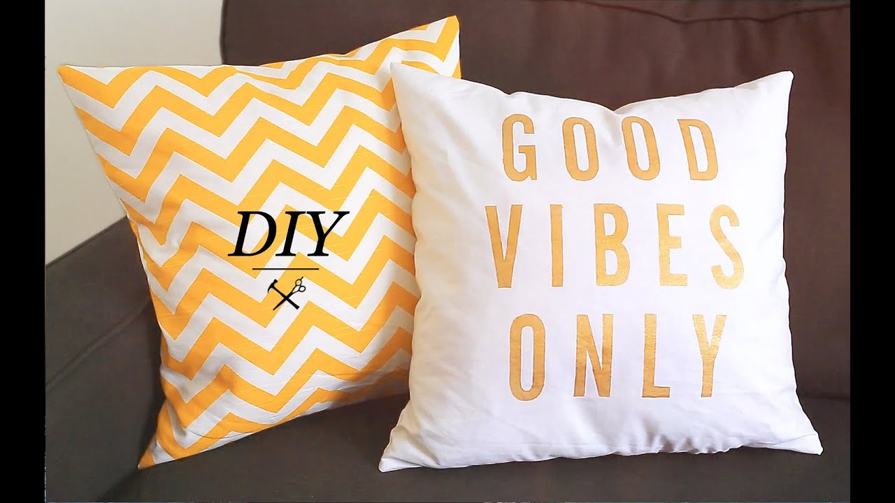 DIY PILLOW CASES - YouTube