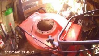 démontage moteur de tondeuse , partie 3