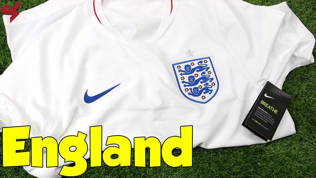 02065b46104 World Cup 2018 Nike Home England Soccer Jersey Unboxing + Review ...