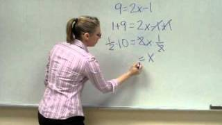 Solving linear equations with one variable