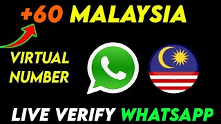+62 Malaysia Number For Whatsapp    How to Get All Country Virtual  Number 2021    screenshot 4