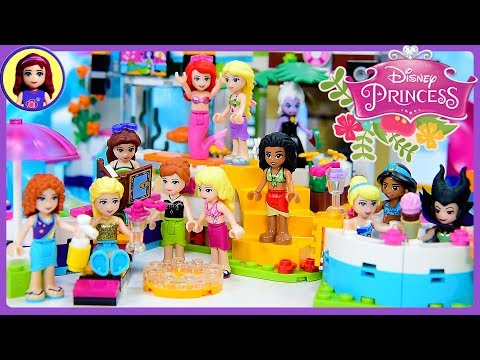 Thumbnail: Disney Princess Lego Pool Party Dress Up Swimwear Silly Play Kids Toys
