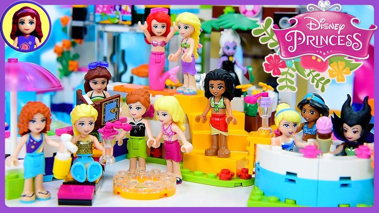 Disney Princess Lego Pool Party Dress Up Swimwear Silly Play Kids