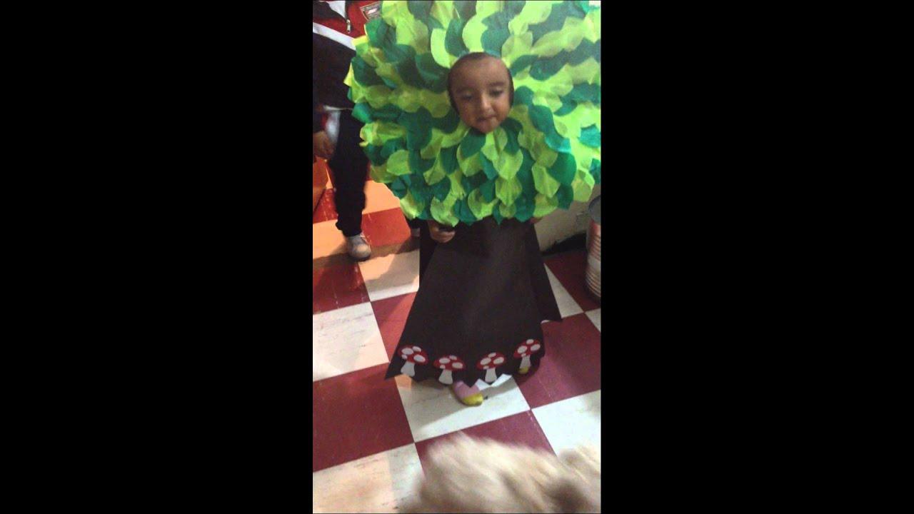 Disfraz arbol - YouTube