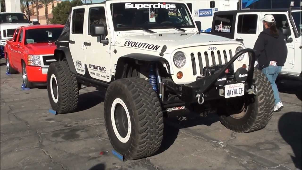 White 2 Door Jeep Wrangler Evolution Jeep JK - YouTube
