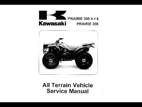kawasaki prairie 300 4x4 service manual youtube. Black Bedroom Furniture Sets. Home Design Ideas