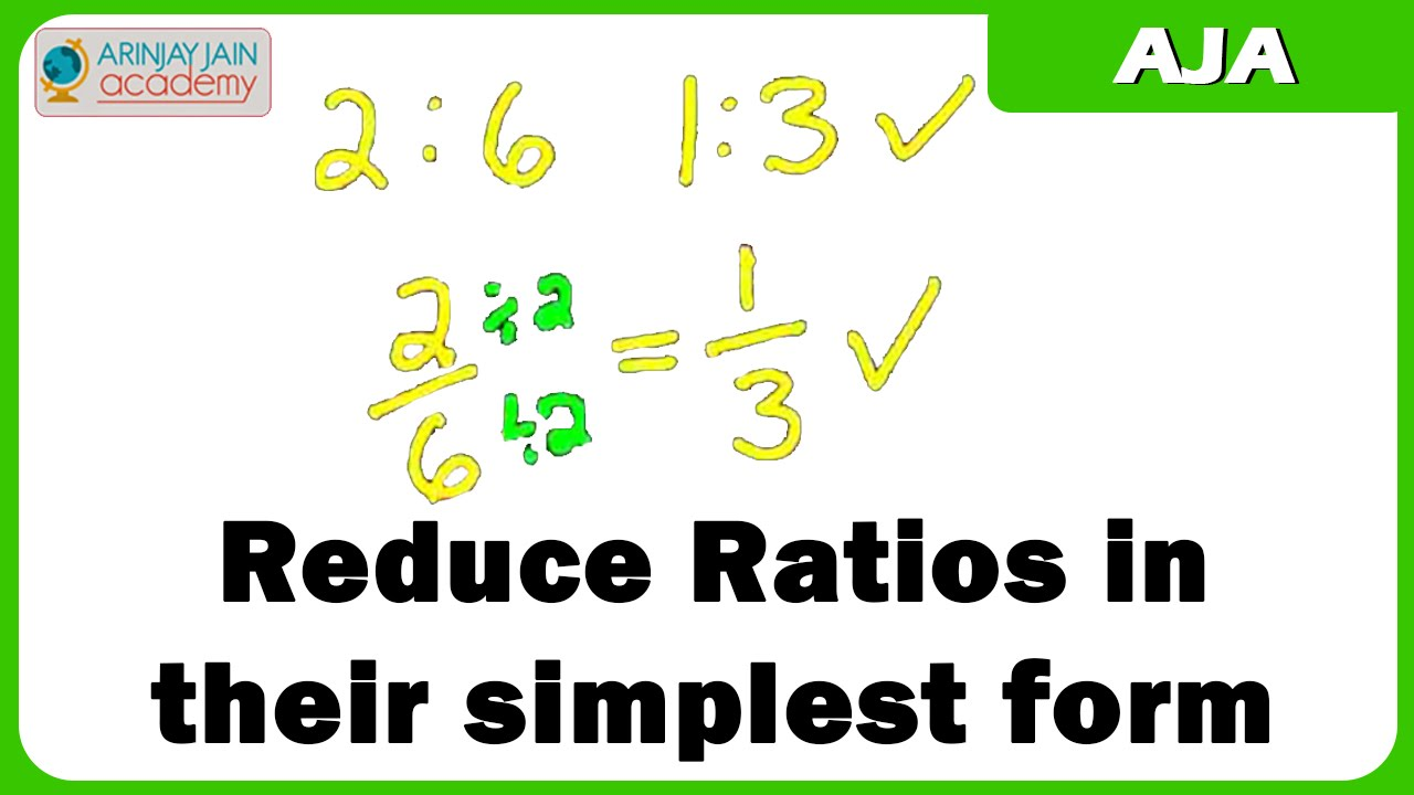Reduce Ratios in their simplest form - YouTube