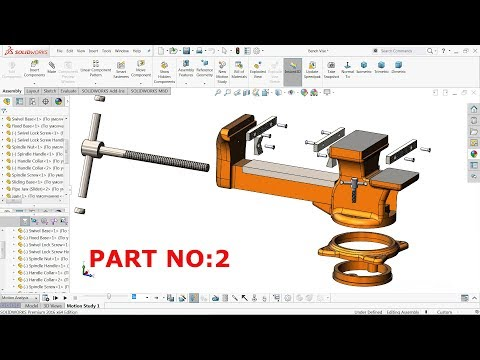 Solidworks Tutorial | Design of Bench Vise in Solidworks (Part 2)