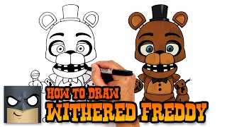 How to Draw Withered Freddy | Five Nights at Freddy