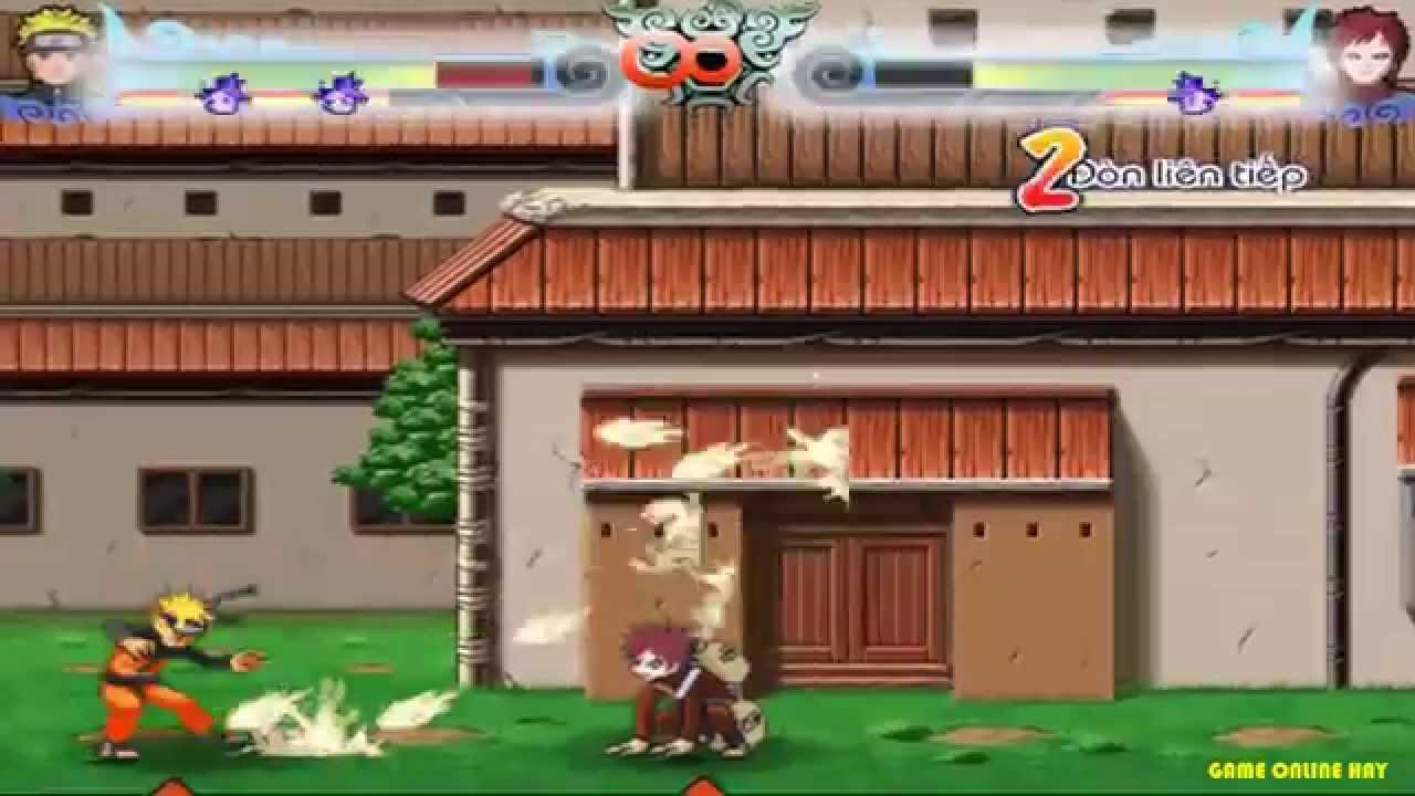 Game Naruto quyết đấu tập 1 - Naruto đánh nhau với Gara