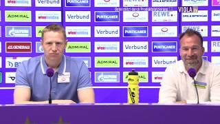 Pressekonferenz nach Austria Wien - Sturm Graz
