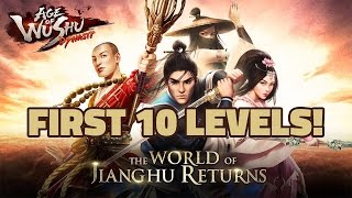 Age of Wushu Dynasty - First 10 Levels (Wudang) - Android / iOS - Gameplay