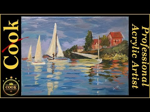 Monet's Regatta Learn to Paint Boats in Water Like the Maste