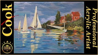 Monet's Regatta Learn to Paint Boats in Water Like the Masters with Ginger Cook