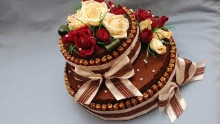 Торт из конфет своими руками. Мастер-класс. DIY Cake of sweets