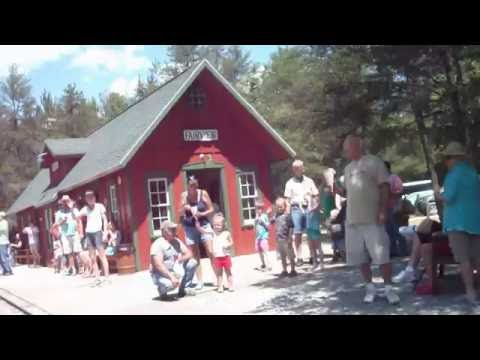 Miniature Train ride at Fairview,Michigan Ausable Valley