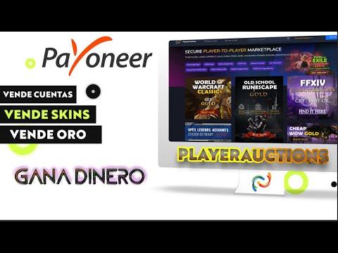 Cómo Vender Cuentas Y Ganar Dinero En Playerauctions Con Payoneer, Vender Oro, Skins, Items Y Más