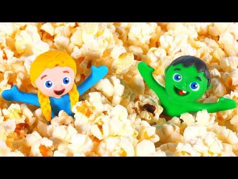 SUPERHERO BABIES MAKE POPCORN ❤ Superhero Babies Play Doh Cartoons For Kids