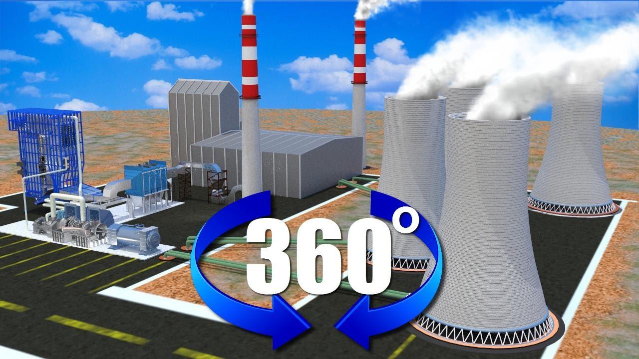 power plant virtual reality tour (360�), animation youtube Thermal Power Plant Icon