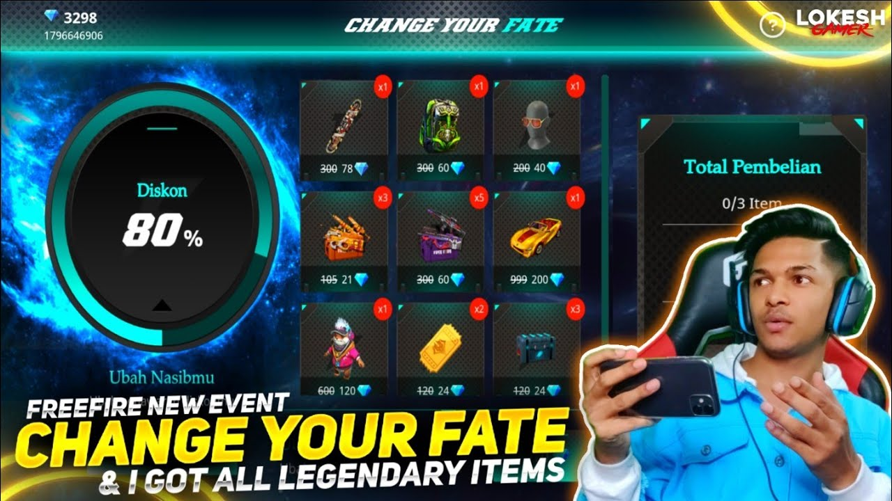 New Change Your Fate Event I Got All Rare Items & New BackPack Skin At Garena Free Fire 2020
