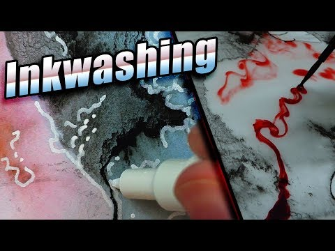 Floating Paper Inkwash Technique