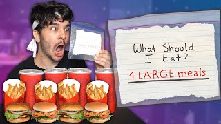 Letting My NEIGHBOURS Decide What I Eat For 24 HOURS! (FOOD CHALLENGE)