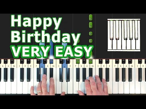 Happy Birthday to You - Piano Tutorial EASY - How To Play (Synthesia)