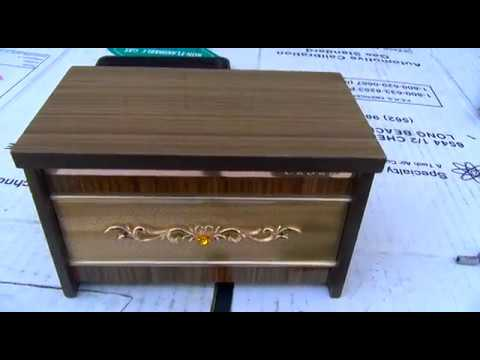 Crown novelty AM radio music box repair