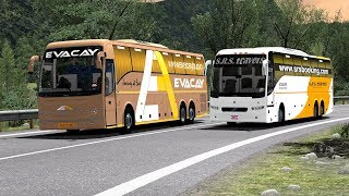 Racing Buses in Highway at 140 KMPH speed [Bus Driving] -  Euro Truck Simulator 2