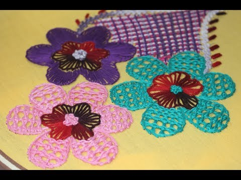 Hand Embroidery Designs | Chain net stitch | Stitch and Flower-162