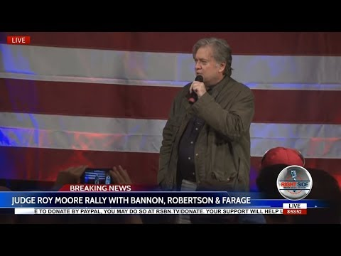 WATCH: JUDGE ROY MOORE RALLY FEAT. STEVE BANNON, PHIL ROBERTSON, NIGEL FARAGE 9/25/17