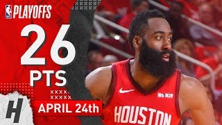James Harden Full Game 5 Highlights Rockets vs Jazz 2019 NBA Playoffs - 26 Pts, 6 Ast, 6 Reb!