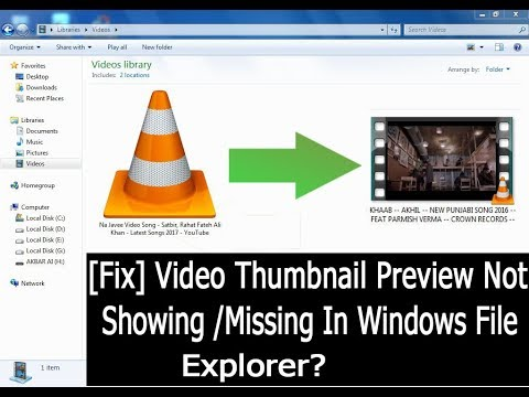 How To Fix Show Thumbnails Instead Of Icons For Video Files