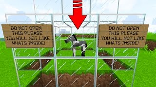 DO NOT RELEASE THIS HORSE! NO MATTER WHAT! (Minecraft Trolling)