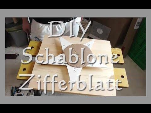 diy uhren schablone f r s zifferblatt selber machen anleitung tutorial deutsch youtube. Black Bedroom Furniture Sets. Home Design Ideas