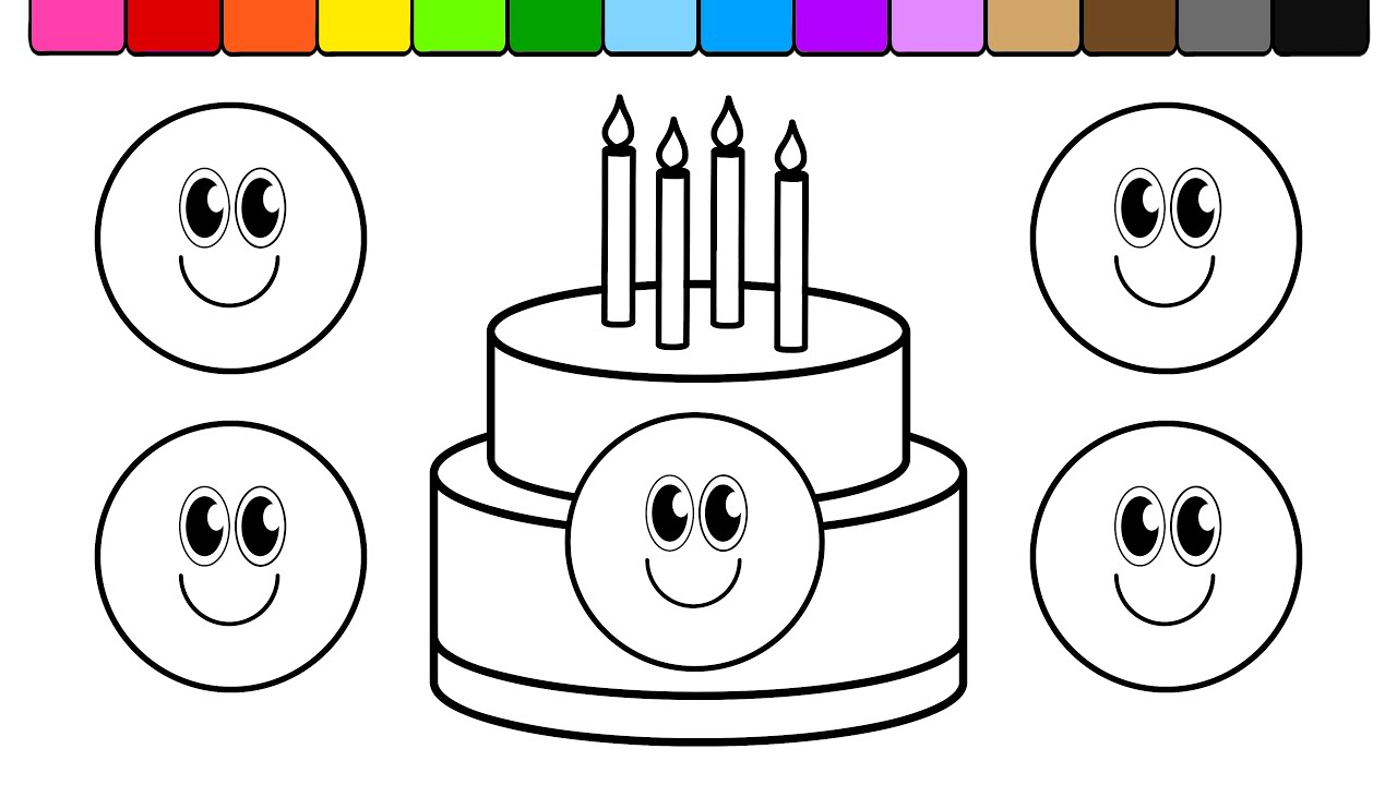 Learn Colors For Kids And Color This Smiley Face Birthday